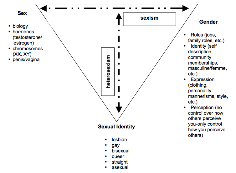 the distinction between sex and gender Sex marks the distinction between women and men as a result of their biological, physical and genetic differences -(esplen, e, jolly, s 2006) gender is the word given to describe the socially constructed behaviours, roles and attributes which are set by society through the different channels which may consist of family, educational.