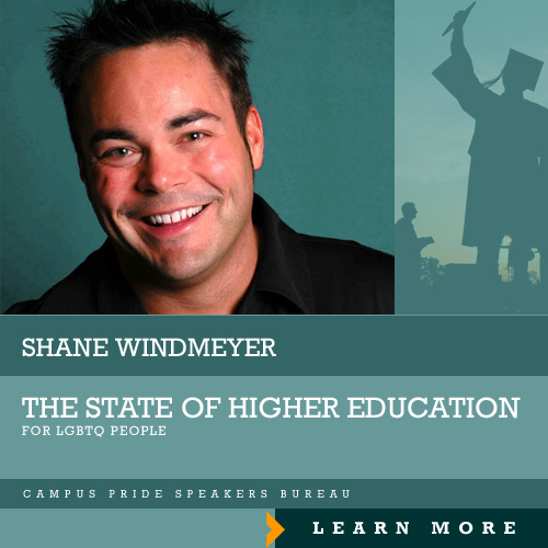Shane Windmeyer, speaker for the State of Higher Ed