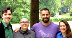 Left: Spencer Spotts, Howie, Rep. Brian Sims, Lisa Warner